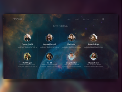 Website Concept : Nebula Business