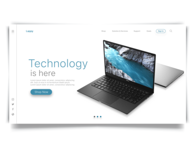 Website Concept : Lappy Web