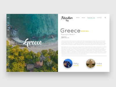 Adventure Trip Website Concept