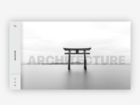 Minimal Website Design for Architecture