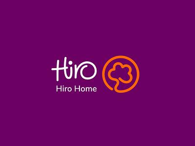 Hiro Home cotton logotype towel design branding logo