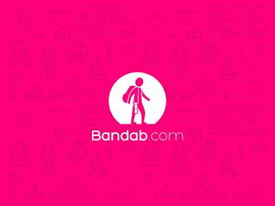 Bandab waterbottle jungle climbing tourist design minimal branding logotype logo