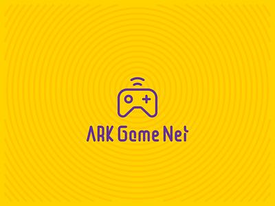 ARK Game Net playstation game minimal logotype branding logo design