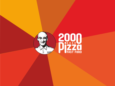 2000 Pizza emblem sign character tabriz pizza 2000 restaurant fastfood minimal branding logotype logo design