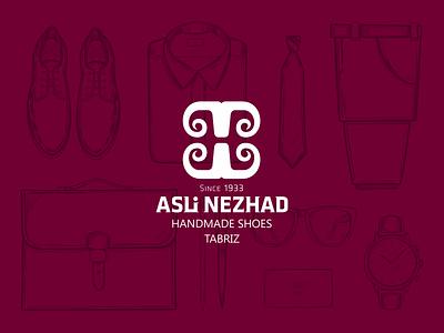ASLI NEZHAD tabriz accessory goat cow leather shoes handmade minimal branding logotype logo design