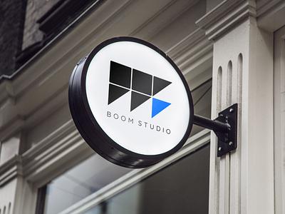 BOOM STUDIO triangle square group architect studio boom architecture minimal branding logotype logo design