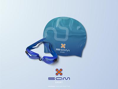 SAM SPORT logo design sports sport logotype minimal branding logo design