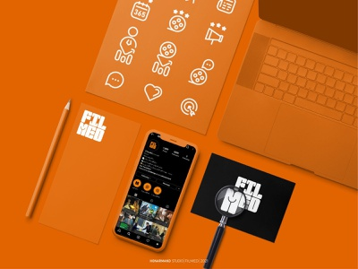 FILMED logo design app icon typography ui orange social media filme logotype minimal branding logo design