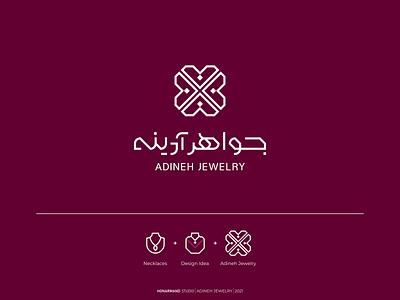 ADINEH JEWELRY jewelry icon iran vector tabriz logotype minimal branding logo design