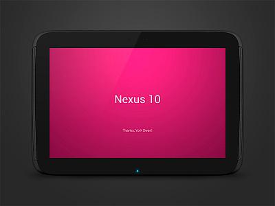 Vector Nexus 10 Mockup Free PSD psd android free freebie mockup google nexus10