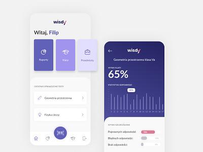 Wisdy Mobile app visual design product mobile ui ux scanning assessment education app design