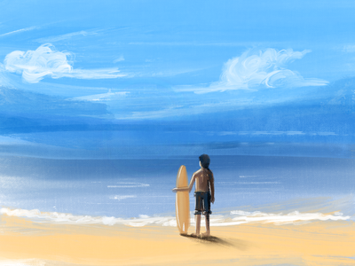 waiting for the waves procreate app procreate art procreateillustration procreate digital painting abstract design concept art digitalart design illustration bangalore