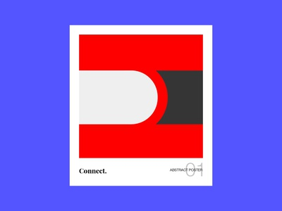 Connect. Abstract Poster Series 01