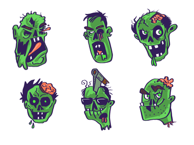Zombies green sketch character design head zombies procreate art procreate bangalore ui art design concept art illustration digitalart