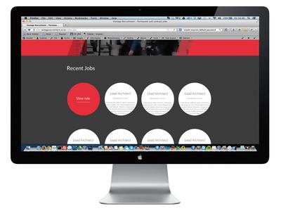 Vantage Recruitment Desktop View 2 Dribbble