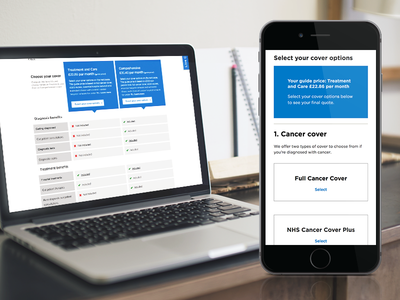 Bupa Quote and Buy New User Journey healthcare bupa web design ui ux