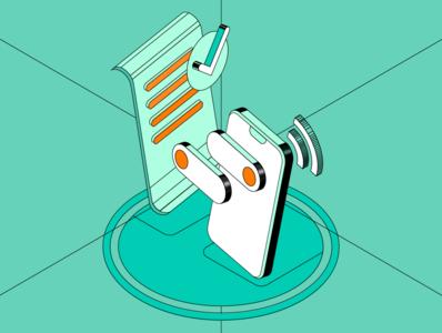 phone isometric illustration