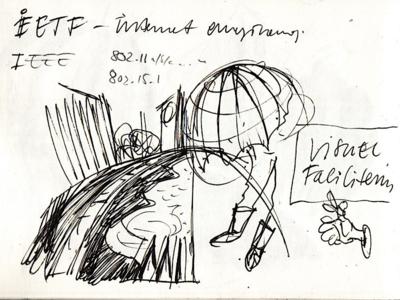 Illustration sketch for Outsmart poster (1/3)