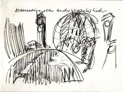 Illustration sketch for Outsmart poster (2/3)