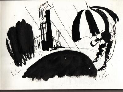 Illustration sketch for Outsmart poster (3/3)