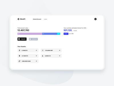 BlockFi Redesign Concept