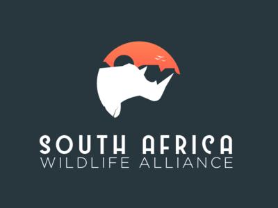 South Africa Wildlife Alliance animals rhino wildlife south africa branding logo brand