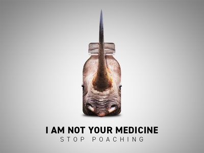 Anti-Poaching Campaign Poster animals wildlife anti-poaching advertising poaching campaign manipulation