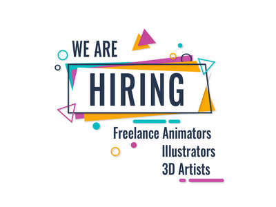 We Are Hiring! motiongraphics motion design illustrator animator freelance