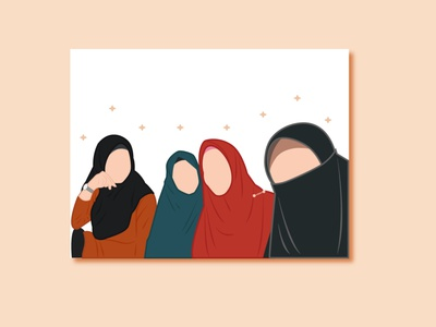 Friends flat vector illustration design