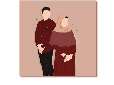 Couple sketch vector illustration design