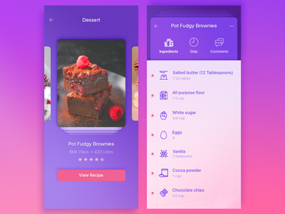 app cook challenge dishes kitchen food cook cooking recipes dashboard ui design mobile app