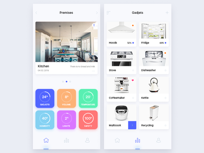 app smart house ux ui kitchen intellectual ai home mobile house smart app