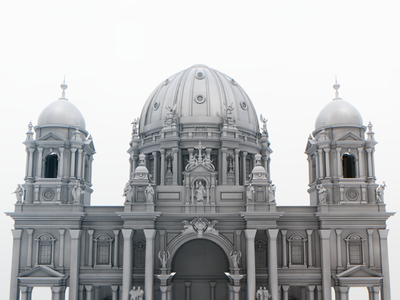 Berlin Cathedral 3D model  3d model architecture building cathedral berlin old detail rendering