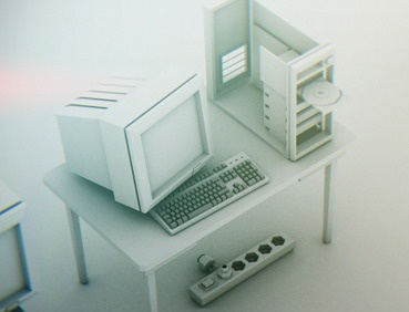 Low Poly PC 3d cinema4d low poly high detail