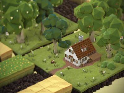 »Let's Talk about Soil!« (5 minutes of 3D animation) 3d animation mograph infographics nature soil city plants trees modelling