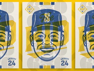 Ken Griffey, Jr. - The Kid ken griffey jr design typography face sports portrait vector illustration art poster print baseball
