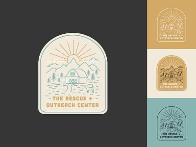 The Rescue + Outreach Center - Unused Logo Concept badge design branding logo