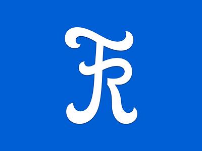 FR wip 2 adjustment lettering logo custom mark blue white fr typography help wip