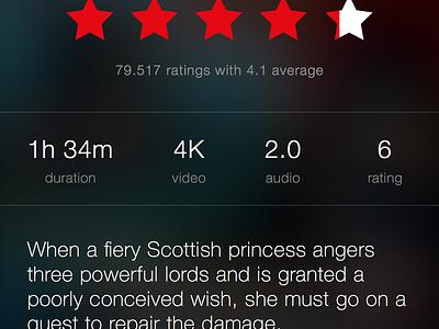 Netflix Movie Detail Prototype netflix framer prototype animation unofficial ios app iphone