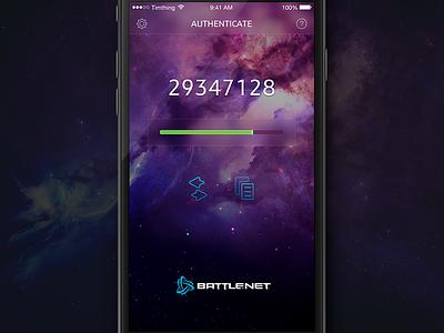 Battle.net Authenticator progress ios iphone app blizzard battle.net authenticator space blur unofficial