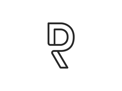 DR mark branding monogram logo