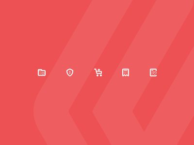 Sidebar icons product wishlist navigation glyph invoice upselling security ssl administration ecommerce icon