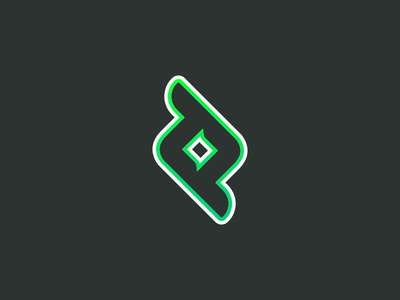 TT Logo Sticker stroke gradient green mark glyph sticker timthing logo