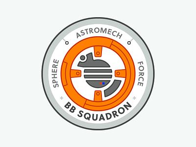BB SQUADRON bweep boop bb8 star wars squadron insignia badge