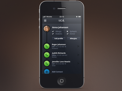 I.C.E. App call help am i doing this right iphone in case of emergency emergency phone i.c.e. ice app profile