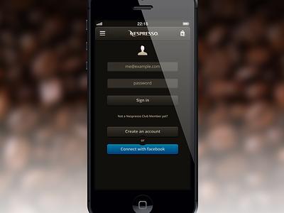 Dear Nespresso... Login iphone app nespresso coffee login account member brown shop ios