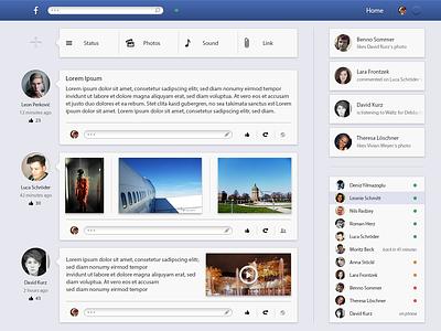 Facebook Redesign facebook redesign simple ui photoshop