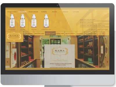 Redesign of Luxury Ayurveda Skincare Website