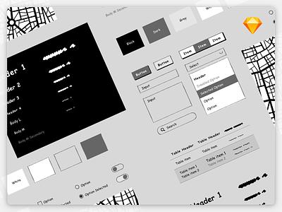 Wireframe UI Kit for Sketch prototype kit lo-fi wireframe user interface ui sketch