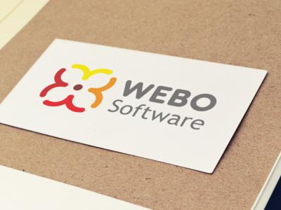 WEBO Software Logotype branding graphics webo logo